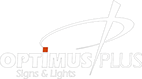 Logo Optimus Plus - Productie Publicitara